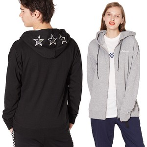 S/S Men's Star Patch Attached Fleece Sweat Hoody