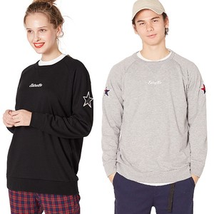S/S Men's Star Patch Attached Fleece Sweat Sweatshirt