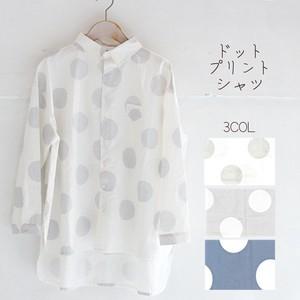 2019年夏物新作オリジナルドットプリントシャツ【2019新作予約】