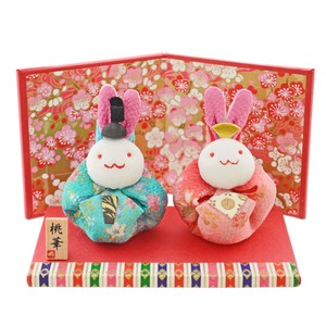 Doll Japanese Paper Crape Pouch Rabbit Decoration Matsuri Hina-Doll Days For Girls