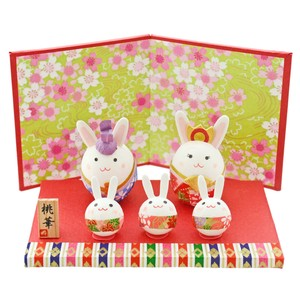 Doll Japanese Paper Rabbit Decoration Matsuri Hina-Doll Days For Girls