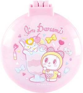 Doraemon Round shape Mirror Brush Pop
