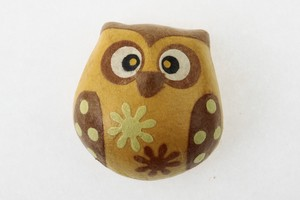 Owl Magnet Mallon Owl Hand Maid Japanese Paper Charm