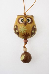 Owl Strap Mallon Owl Hand Maid Japanese Paper Charm