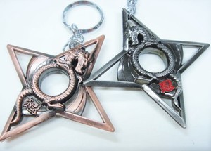 Original Makai World Dragon Shuriken Key Ring