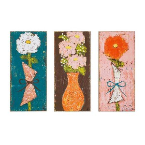 【Creative Co-Op Home】ウォールアート Flower,Emily MDF Wall Art w/ Flower Image 3 Styles