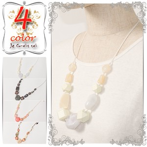 Necklace Accessory Wooden Color Stone Material