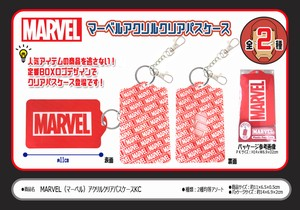 Card Holder Disney Marvel Acrylic Clear Commuter Pass Holder