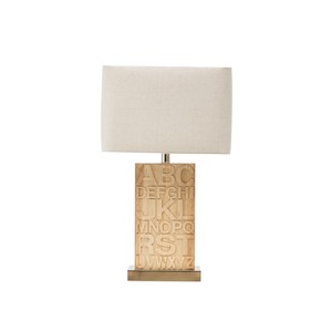 【Creative Co-Op Home】テーブルランプ アルファベット,Rubber Wood Letter Table Lamp w/ Metal Base