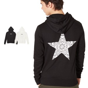 S/S Men's Bag Paisley Star Print Fleece Sweat Hoody