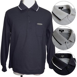 Men's Long Sleeve Polo Shirt S/S Kanoko Plain Long Sleeve Polo Shirt 4 Colors