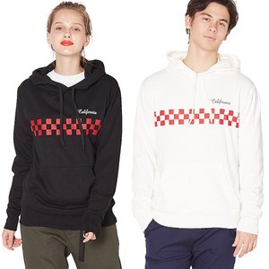 S/S Men's Checker Flag Print Fleece Sweat Hoody