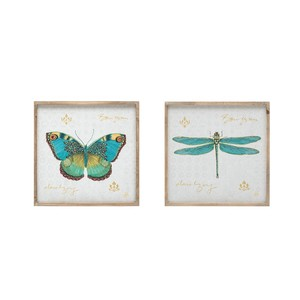 【SALE】【Creative Co-Op Home】ウォールフレームアート,Butterfly & Dragonfly Pattern 2 Styles