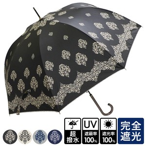 Unisex Damask One push Umbrellas UV Cut