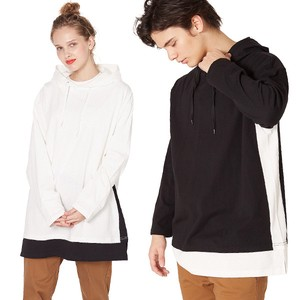 S/S Unisex Switch Color Scheme Big Silhouette Long Sleeve T-shirt Hoody Cut And Sewn