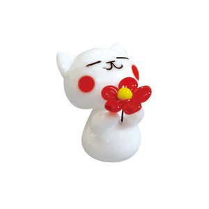 Glass Flower White cat