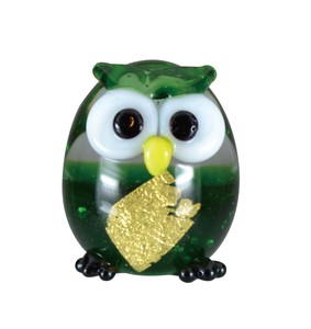 Glass Health Gold Leaf Owl