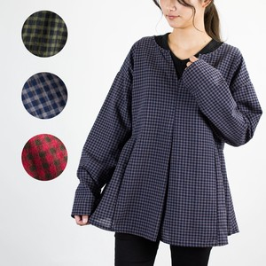 Natural Gingham Check Cotton Tunic
