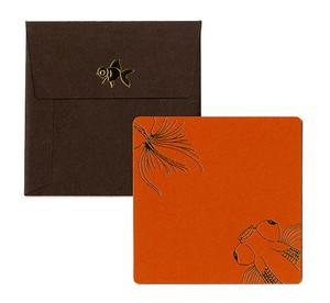 Square Card Envelope Goldfish
