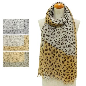 S/S Stole Leopard Color Switch Stole
