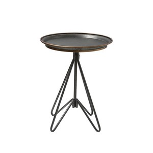 【Creative Co-Op Home】サイドテーブル,Metal Table Zinc w/ Gold Detail KD