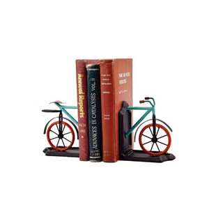 【Creative Co-Op Home】ブックエンド バイク,Metal Bicycle Bookends Set of 2