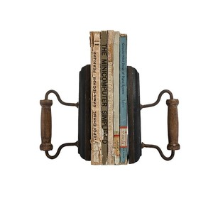 【Creative Co-Op Home】ブックエンド アイロン,Cast Iron & Wood Bookends Set of 2