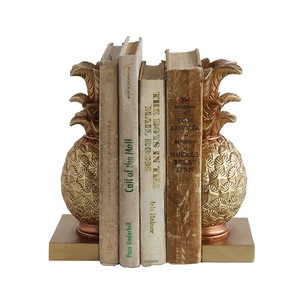 【Creative Co-Op Home】ブックエンド パイナップル,Resin Pineapple Bookends Set of 2