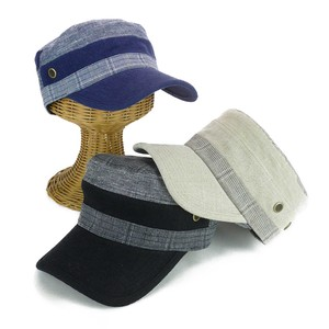 Checkered Linen Switching Cap Young Hats & Cap
