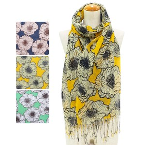 S/S Stole Retro Big Flower Stole Uv Countermeasure