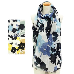 S/S Stole Bold Flower Large Format Stole Uv Countermeasure