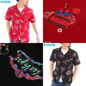 [2019NewItem] Aloha Shirt Rayon Repeating Pattern Open Color Suit Set