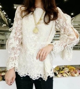 Lace Cutting Lovely Blouse