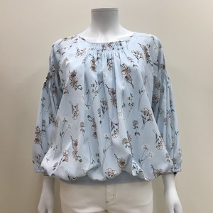 S/S Print Floral Pattern Blouse