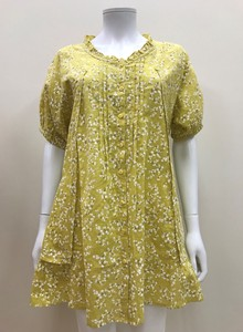 S/S Floral Pattern Frill Tunic Blouse