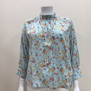 S/S Floral Pattern Print Blouse