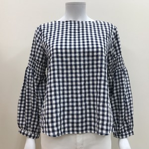 S/S Gingham Check Blouse