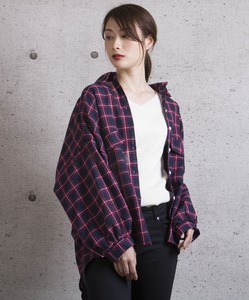 Volume Sleeve Checkered Shirt