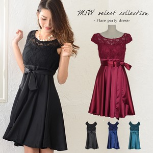 Lace Switching Flare Party Dress Party Dress Dress One-piece Dress Lace