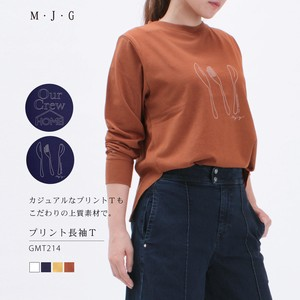 【SALE】プリント長袖Tシャツ M・J・G/GMT214
