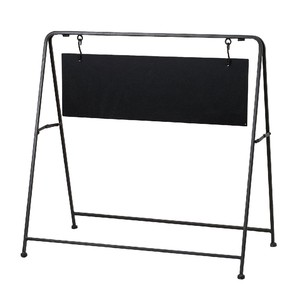 Iron Black Board Stand Brown