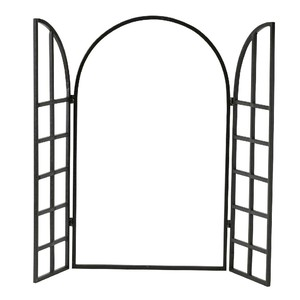 Iron Display Window Frame Ornament Arch Brown