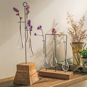 【Creative Co-Op Home】ハンギングフラワーベース,Pine Base w/ 3 Hanging Glass Vases
