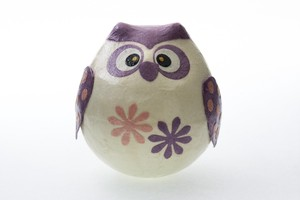 Rising Owl Purple Owl Hand Maid Japanese Paper