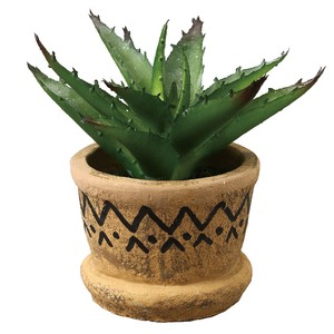 Artificial Plants Wave Line Pot