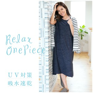 One-piece Dress Pearskin Finish Dyeing Countermeasure Water Absorption Fast-Drying Ladies