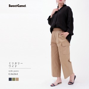 【SALE】コンパクトギャバ ミリタリーワイド Sweet Camel/CA6364