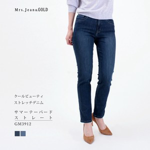 Material Stretch Denim Tapered Straight Mrs.Jeana