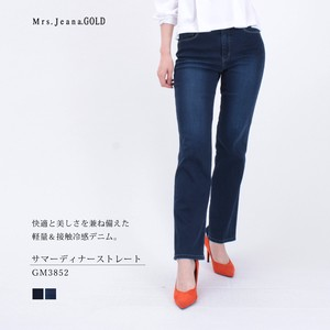 Stretch Denim Straight Cool Mrs.Jeana GOLD