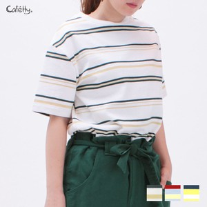 Border Short Sleeve T-shirt Cafetty